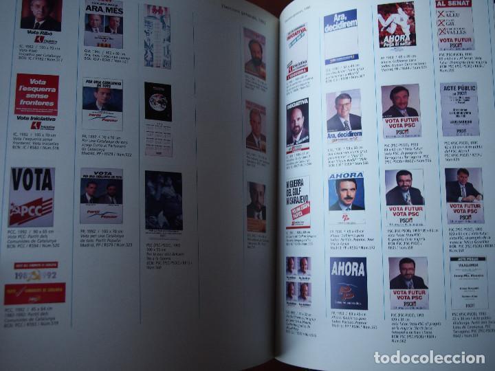 Carteles Políticos: El Cartells de la Democràcia - 1976 - 2000 Catálogo fondo carteles políticos - Texto bilingüe - Foto 9 - 76671387
