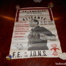 Carteles Políticos: CARTEL ACTO NACIONAL 1979 FE JONS FALANGE GRAN FORMATO TRANSICIÓN JOSE ANTONIO ANIVERSARIO FRANCO. Lote 81218996