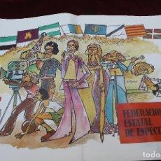 Affiches Politiques: POSTER FEDERACION ESTATAL DE ESPECTACULOS, UGT 1978, DIBUJO DE NANO AZNAR. Lote 82819072