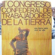 Carteles Políticos: III CONGRESO CONFEDERAL DE LOS TRABAJADORES DE LA TIERRA, UGT, MADRID 1979. Lote 82819980