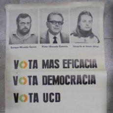 Carteles Políticos: CARTEL. VOTA UCD. VOTA DEMOCRACIA. PUERTO DE SANTA MARIA. 80 X 57 CM. Lote 85691344