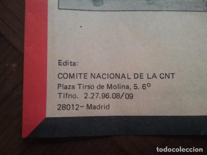 Carteles Políticos: CNT CARTEL 1° MAYO A.I.T. AÑO 1987 - Foto 3 - 89173012