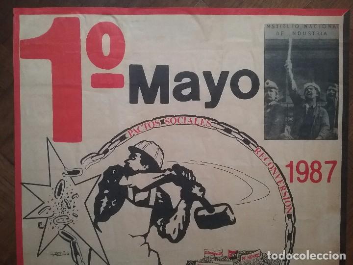 Carteles Políticos: CNT CARTEL 1° MAYO A.I.T. AÑO 1987 - Foto 6 - 89173012