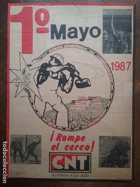 CNT CARTEL 1° MAYO A.I.T. AÑO 1987 (Coleccionismo - Carteles gran Formato - Carteles Políticos)