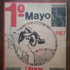 Carteles Políticos: CNT CARTEL 1° MAYO A.I.T. AÑO 1987. Lote 89173012