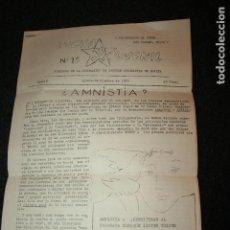 Carteles Políticos: LUCHA JUVENIL. FEDERACIÓN DE JÓVENES COMUNISTAS DE ESPAÑA AÑO 1976, 8 PÁGINAS. Lote 95346435