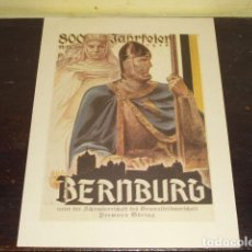 Carteles Políticos: CARTEL III REICH - BERNBURG - UNTER DER SCHIRMBERRSCHAFT GENERALFELDMARSCHALL HERMAN GORING -. Lote 96996295