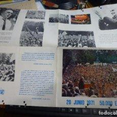 Carteles Políticos: PUBLICACION TIPO CARTEL DEL PARTIDO COMUNISTA DE ESPAÑA, ORGANIZA P.C.F. INFORMACION ESPAÑOLA 1971. Lote 98660207