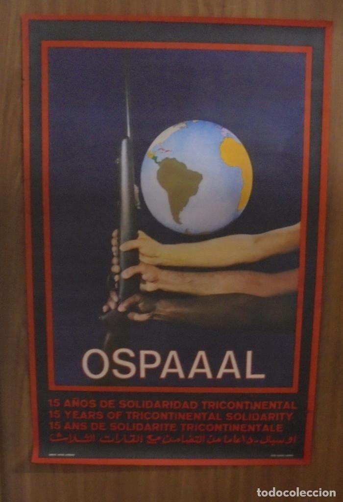 CARTEL. OSPAAAL. AÑOS 60. 15 AÑOS DE SOLIDARIDAD TRICONTINENTAL. 68 X 45CM (Coleccionismo - Carteles gran Formato - Carteles Políticos)