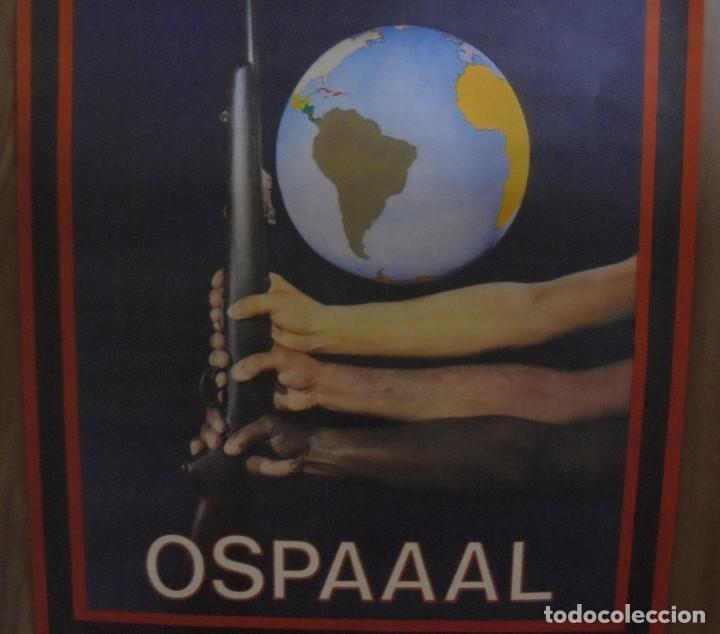 Carteles Políticos: CARTEL. OSPAAAL. AÑOS 60. 15 AÑOS DE SOLIDARIDAD TRICONTINENTAL. 68 X 45CM - Foto 4 - 98821475