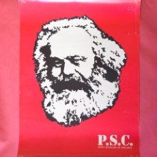 Carteles Políticos: CARTEL DEL PARTIT SOCIALISTA DE CATALUNYA - P.S.C. - MARX - GRAFIQUES LLOPART - 1977 - 42,50 X 56 CM. Lote 99878879