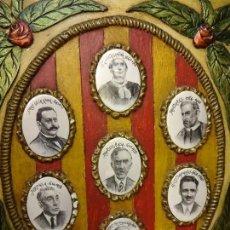 Carteles Políticos: CARTEL PRESIDENTS DE LA GENERALITAT. FABRICADO EN YESO CON IMÁGENES DE LOS PRESIDENTES. AÑOS 1970S. Lote 100710151