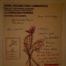 "Carteles Políticos: RAFAEL ALBERTI. CARTEL ""ROMA, PELIGRO PARA CAMINANTES"". 1976. Lote 101770003"