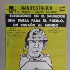 Carteles Políticos: CARTEL POLITICO REIVINDICATIVO, AÑOS 80. Lote 103200699