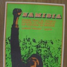 Carteles Políticos: CARTEL. LITOGRAFIA. OSPAAAL. AÑOS 70. NAMIBIA, PODER PARA EL PUEBLO. 71 X 48CM.. Lote 103283903