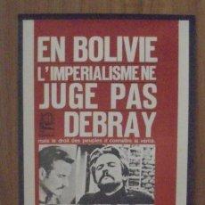 Carteles Políticos: CARTEL. LITOGRAFIA. OSPAAAL. AÑOS 60. EN BOLIVIA EL IMPERIALIMO. 31 X 52CM. Lote 103288987