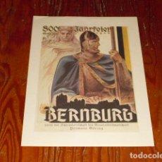 Carteles Políticos: CARTEL PROPAGANDA III REICH - BERNBURG -. Lote 103412135