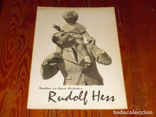 CARTEL PROPAGANDA III REICH - RUDOLF HESS - (Coleccionismo - Carteles gran Formato - Carteles Políticos)