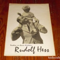 Carteles Políticos: CARTEL PROPAGANDA III REICH - RUDOLF HESS -. Lote 103429991