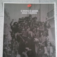 Carteles Políticos: CARTEL POSTER POLÍTICO PORTUGAL REVOLUÇÃO DOS CRAVOS REVOLUCION CLAVELES EN LUCHA 25 DE ABRIL 2014. Lote 103692891
