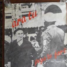 Carteles Políticos: CARTEL/POSTER DE APOYO A HERRI BATASUNA DESDE VALENCIA. AÑOS 80. Lote 107902034