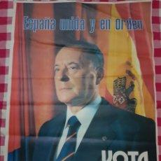 Carteles Políticos: CARTEL ELECTORAL BLAS PIÑAR FUERZA NUEVA 1982. Lote 192752133