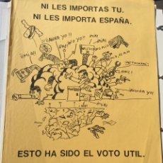 Carteles Políticos: ANTIGUO CARTEL POLÍTICO,TRANSICIÓN POLÍTICA,FUERZA NUEVA O FUERZA JOVEN,FRENTE NACIONAL,ARTÍCULO COL. Lote 110067148