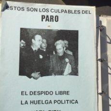 Carteles Políticos: ANTIGUO CARTEL POLÍTICO,TRANSICIÓN POLÍTICA,FUERZA NUEVA O FUERZA JOVEN,FRENTE NACIONAL,ARTÍCULO COL. Lote 110067388