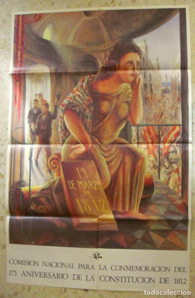 CARTEL 175 ANIVERSARIO DE LA CONSTITUCION DE 1812 . DE GUILLERMO PEREZ VILLALTA. 1987 (Coleccionismo - Carteles gran Formato - Carteles Políticos)
