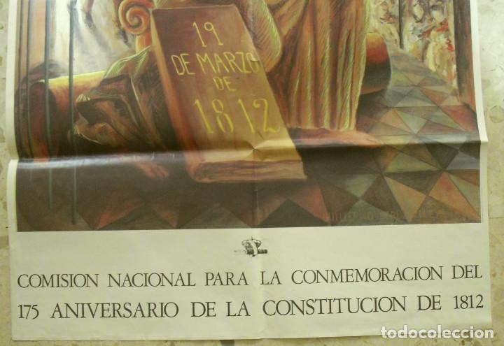 Carteles Políticos: CARTEL 175 ANIVERSARIO DE LA CONSTITUCION DE 1812 . DE GUILLERMO PEREZ VILLALTA. 1987 - Foto 3 - 110202343