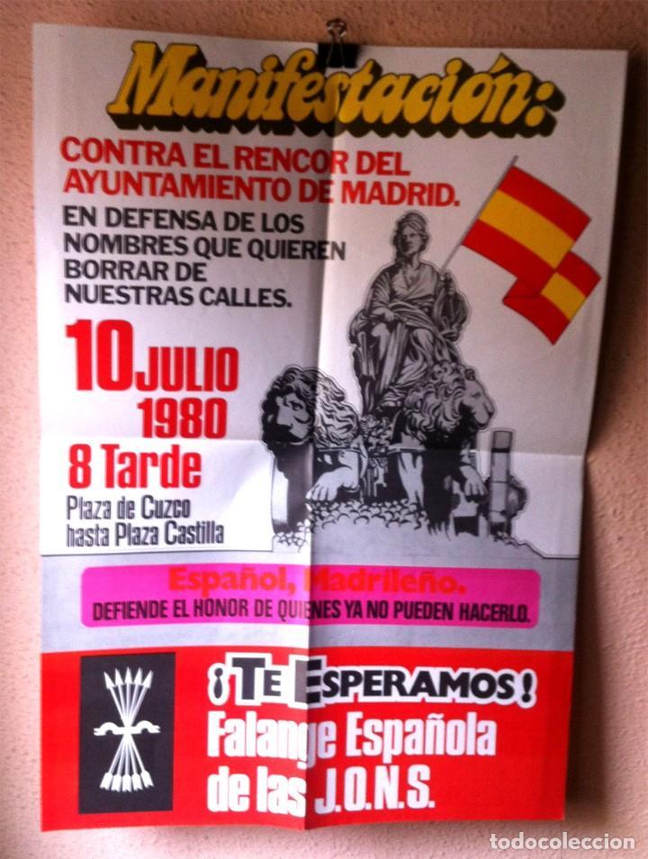 CARTEL FALANGE ESPAÑOLA DE LAS JONS (Coleccionismo - Carteles gran Formato - Carteles Políticos)