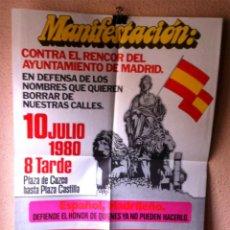 Carteles Políticos: CARTEL FALANGE ESPAÑOLA DE LAS JONS. Lote 114259503