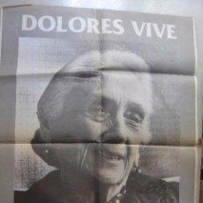 Affissi Politici: POSTER CARTEL DOLORES IBARRUIRI LA PASIONARIA. UNA FLOR DEL S.XX. Lote 115387431