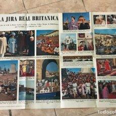 Carteles Políticos: GRAN CARTEL DE PROPAGANDA SOBRE LA GIRA DE LA FAMILIA REAL BRITANICA EN LA INDIA AÑO 1961. Lote 119064127