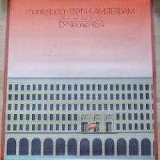 Carteles Políticos: RARO CARTEL DEL MINISTERIO DE TRABAJO, MANIFESTACION ESPAÑA-AMSTERDAM, 1980, 50X60 CMS. Lote 120304755
