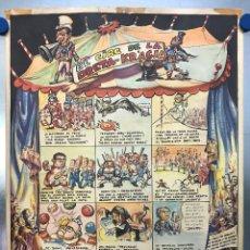 Carteles Políticos: EL CIRC CIRCO DE LA DETRA-KRACIA - CARTEL CALENDARIO AÑO 1980. Lote 121125279