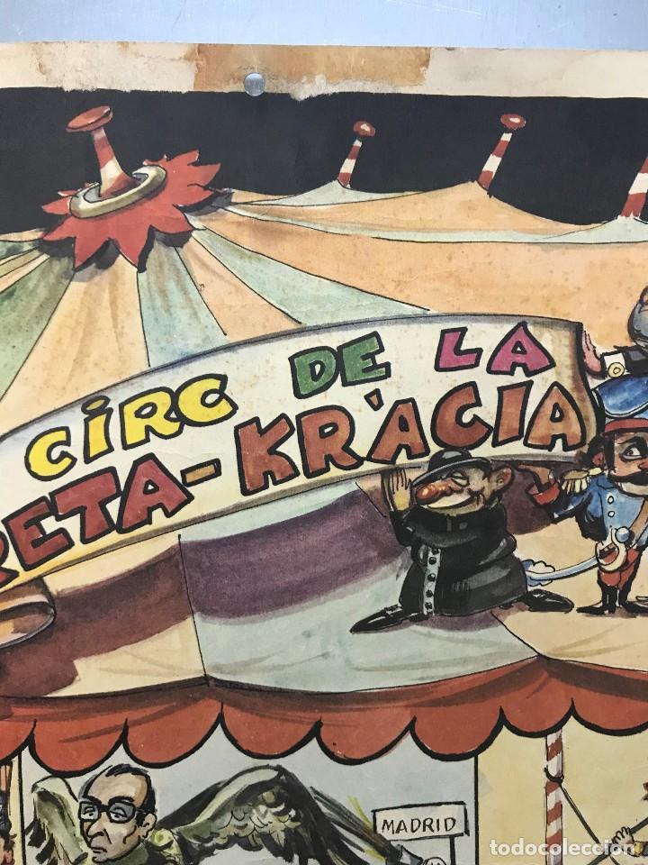 Carteles Políticos: EL CIRC CIRCO DE LA DETRA-KRACIA - CARTEL CALENDARIO AÑO 1980 - Foto 6 - 121125279
