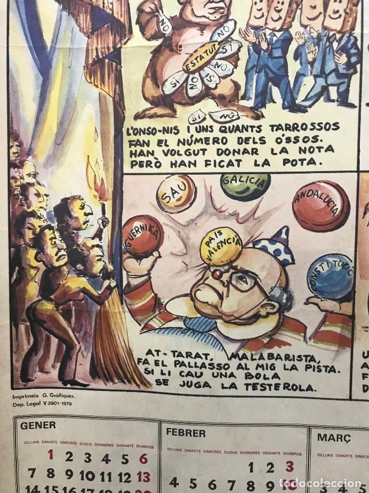 Carteles Políticos: EL CIRC CIRCO DE LA DETRA-KRACIA - CARTEL CALENDARIO AÑO 1980 - Foto 10 - 121125279