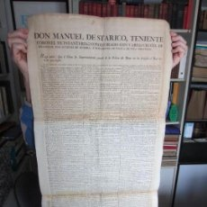 Carteles Políticos: 1824-BANDO REY FERNANDO VII.ÓRDENES.ABSOLUTISMO.SUPRESIÓN DEMOCRACIA CORTES DE CÁDIZ.EN GRANADA. Lote 121343947