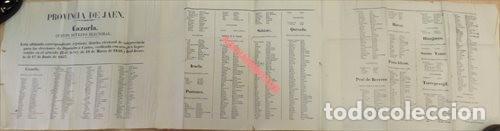 JAEN, 1858, CARTEL ELECTORAL DIPUTADOS A CORTES DISTRITO DE CAZORLA, 120X31 CMS, UNA JOYA (Coleccionismo - Carteles gran Formato - Carteles Políticos)