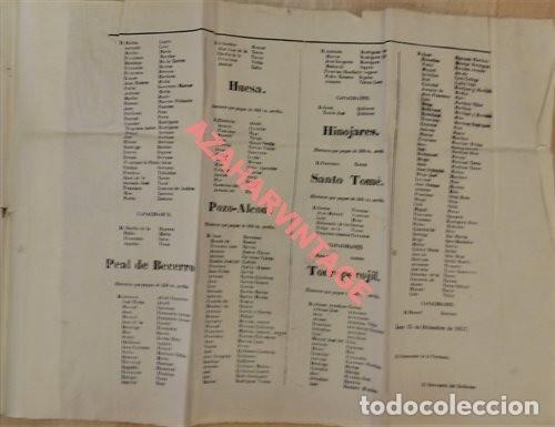 Carteles Políticos: JAEN, 1858, CARTEL ELECTORAL DIPUTADOS A CORTES DISTRITO DE CAZORLA, 120X31 CMS, UNA JOYA - Foto 4 - 123118395