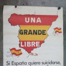 Carteles Políticos: CARTEL ELECTORIAL. FALANGE ESPAÑOLA DE LAS JONS. 1977. Lote 124167879