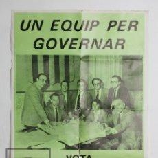 Carteles Políticos: CARTEL / PÓSTER DE PROPAGANDA POLÍTICA - CONVERGÈNCIA I UNIÓ - JORDI ESCODA - MEDIDAS 49 X 70 CM. Lote 124497503