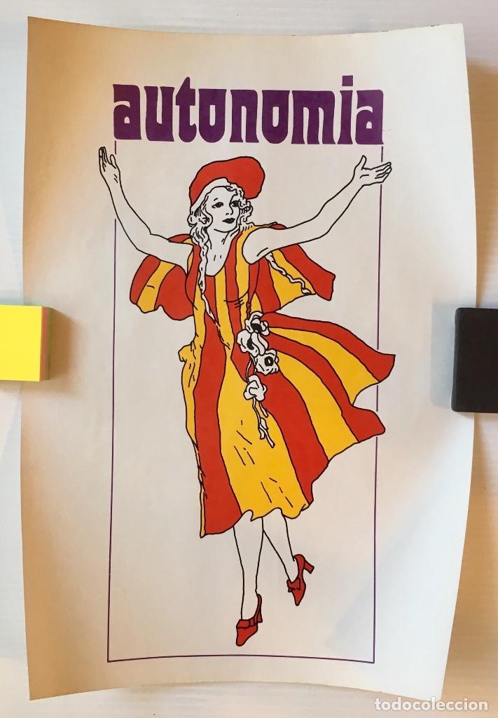 CARTEL AUTONOMIA DE CATALUNYA. (Coleccionismo - Carteles gran Formato - Carteles Políticos)