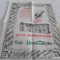 Carteles Políticos: CARTEL ELECCIONES 1983. UNIDADE DOS VECIÑOS. Lote 132802162