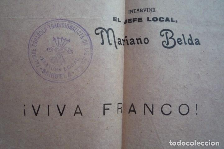 Carteles Políticos: ORIHUELA(ALICANTE). 1941. FRENTE DE JUVENTUDES DE F.E.T. Y DE LAS J.O.N.S. ENCUADRAMIENTO......... - Foto 4 - 132831306
