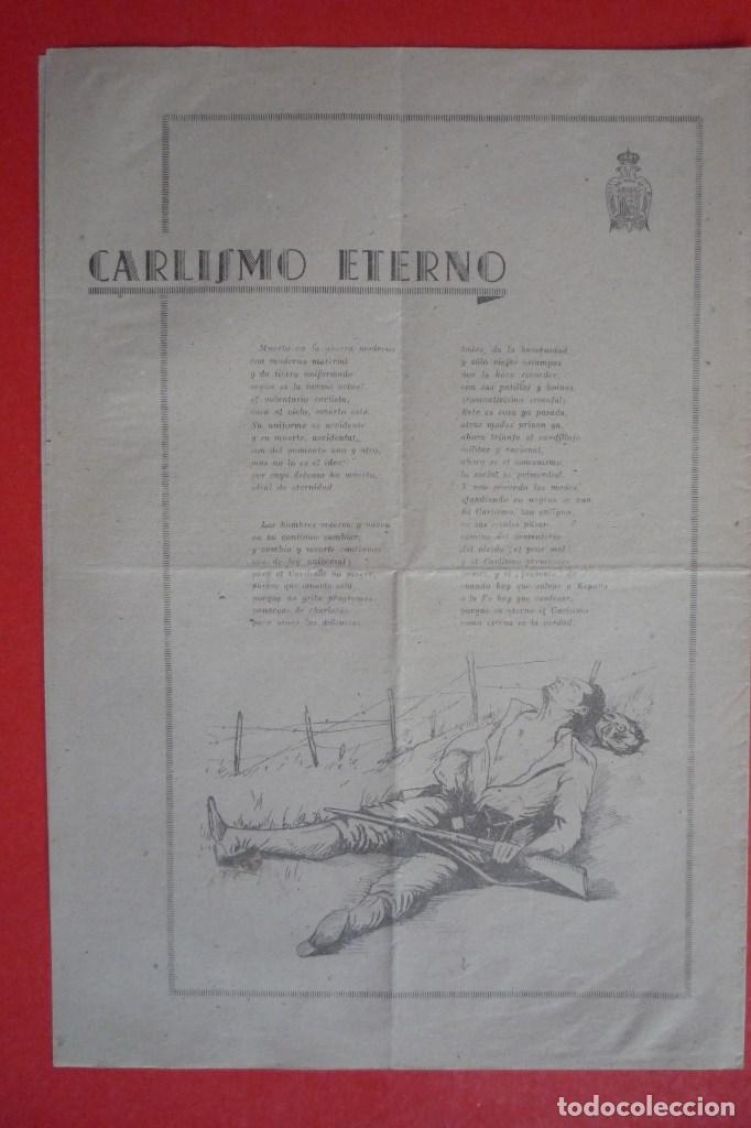 Carteles Políticos: REQUETÉS-CARLISMO. 1940. ¡¡10 DE MARZO!!. DIFERENTES MANIFIESTOS. ¿QUÉ ES LA JUVENTUD CARLISTA?. - Foto 2 - 132836886