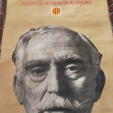Carteles Políticos: PÓSTER POLÍTIC FRANCESC MACIÀ(1859-1933)-PRESIDENT GENERALITAT CATALUNYA, EDICIONS 62-1976, 68X41CM.. Lote 135151698