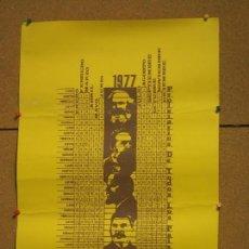 Carteles Políticos: CALENDARIO 1977 PROLETARIOS DE TODOS LOS PAISES UNIDOS 60 X 40 CM EN CARTULINA.. Lote 136855318