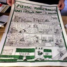 Carteles Políticos: SEVILLA, 1977, CARTEL FIESTA DEL PUEBLO ANDALUZ, CARLOS CANO, ENRIQUE MORENTE, TRIANA. ETC.... Lote 191924343